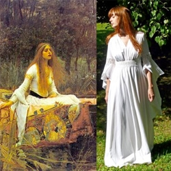 Fascinated by 20 yr old french blogger, Pandora, who takes inspiration from paintings for her fashions...