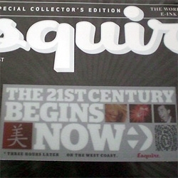 Esquire magazine ~ next month's cover - An innovative method called electronic ink that will allow designers to make animated print works.  See how it works!