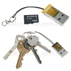 Secretly lusting for this tiny microSD USB reader/key gizmo by brando (only 11$)
