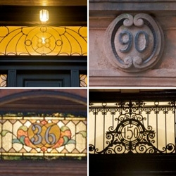 Michael Critz was kind enough to create an incredible gallery of Boston house numbers to help  my hunt for house number ideas!
