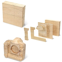 Walkthrough on how to make a balsa wood model of a Canon dSLR