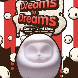 Daruma's as custom vinyls ~ Dacosta Bayley has teamed with the Japanese American National Museum to create Dreams to Dreams, the first ever custom show to be held in a museum.