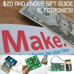 On Gift Guides ~ The $20 gift guide at MAKE - Electronics kits for $20 and under!