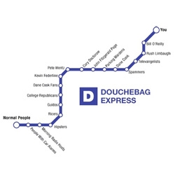 The Douchebag Express as designed by Gawker