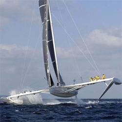 Hydroptere - incredible luxury hydroplaning boat
