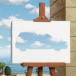 DDB Germany new adds for the Volkwagen Polo Blue Motion looks for inspiration in the works of Magritte and Dali
