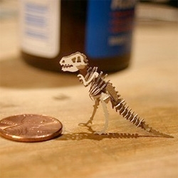 "On fun uses for a laser cutter ~ i'm fascinated by these teeny tiny ""Build Your Own Tinysaur"" creatures from kfarell's etsy shop"
