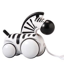 Pull-Along Zebra ~ something so cute about its disproportionate black and white little woodiness