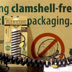 Flexicords ~ not only a brilliant idea (cords that hold form when you shape them) but fun packaging and graphic design! Clamshell-Free!!!