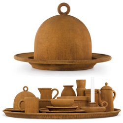 Milan 09: a large, rusty, cast-iron dinner service by Belgian designers Studio Job is on show in Milan this week.