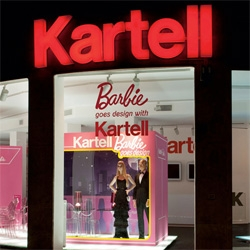 More pics of the Barbie Goes Design with Kartell in the Milan windows!