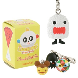 New Luckies ~ blind box zipper pulls from Friends with You and Kid Robot