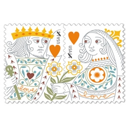 Designed by Derry Noyes and Jeanne Greco, these adorable paired stamps are the newest addition in the Love series.