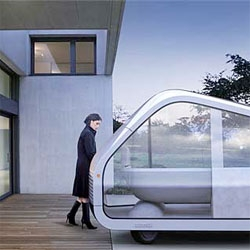 The Autonomobile concept from Mike and Maaike~ first debuted at Dwell on Design ~ the amazing design duo have stepped back and rethought the idea of a car all together. I want one!