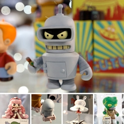 SDDC 09 ~ a look at some of the great new series over at KidRobot ~ from stumpy futuramas to junko mizuno to the rolling stock!