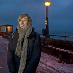 Katie Paterson monitors the world's ecosystems through art - her installation on Deal pier means lights flash every time there is a lightning strike around the globe.