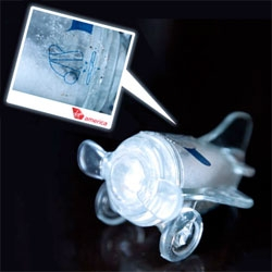 Silly design details that grabbed me... the little airplane salt & pepper shaker from Virgin America!