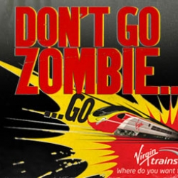 "Hunt the walking dead with Virgin Trains new ""Dont go zombie"" game. Roam the streets and rescue zombies by zapping them with ticket machines and issuing them rides on Virgin trains."