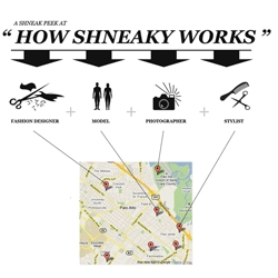 SHNEAKY aims to connect fashion designers, models, photographers and stylists in your area