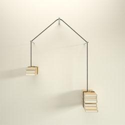 Tantalizing read-unread bookshelf by Niko Econodmidis design.