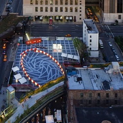 HWKN and Diller Scofidio+ Renfro team up to design a roller-skating rink that harkens back to New York in the '70s.