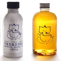 vedaPURE has a great logo... and some fun packaging!  ~ cute line of products for the whole family (aka perfect gift sets for mom's to be and baby showers)