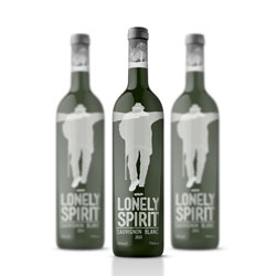 Marko Vuleta-Djukanov's packaging design for Lonely Spirit Wine.