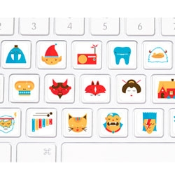 Picture Alphabet Keyboard Stickers by Christopher Monro DeLorenzo.