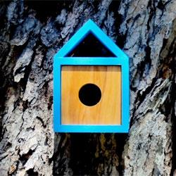 Lovely modern bird house, the Burd-haus 20-05 Danish Modern Chalet by Nathan Danials.
