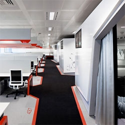 Google's newest offices in London, designed by Penson.
