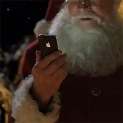 Santa meets Siri in this holiday ad for the iPhone 4s.