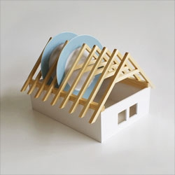 Product design student Veronika Paluchova's house shaped dish rack.