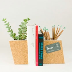 Cork Planter bookend set from Nicole Runde.