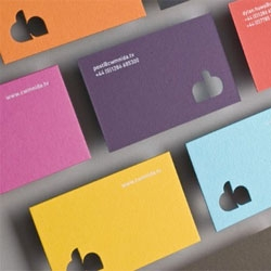 Fun colorful business cards for Cwmni Da by Elfen.
