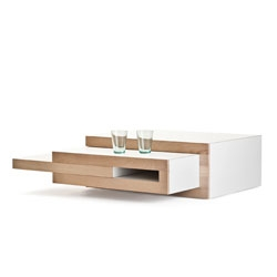 The REK coffee table by Reiner de Jong expands to fit your needs.
