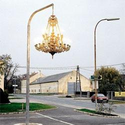 Werner Reiterer's street chandelier.