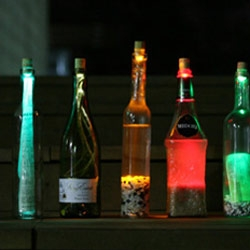 Corks with hidden LEDs that light up your drinks - The Cork Light Concept by Won-Gye Na