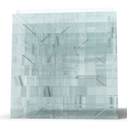 Phil Pauley designed a nine floor glass maze, Cubed Maze3.