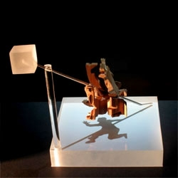 John V. Muntean's angle sculptures create a variety of forms with light and shadow. Great videos of these incredible dynamic sculptures