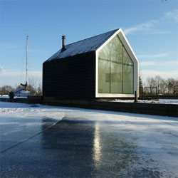Loosdrecht Island House in the Netherlands by 2by4 Architects.