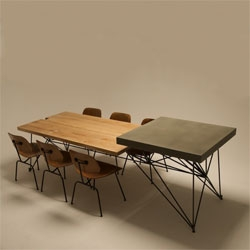 Concrete + Wood + Steel = HG Table by the studio Gore Design Co.