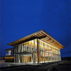 Beautiful Nanaimo Cruise ship Terminal by Checkwitch Poiron Architects.