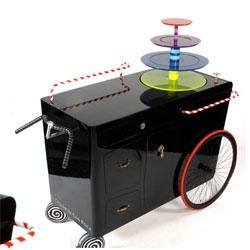 A special dessert cart design by Andreu Carulla for El Celler de Can Roca. Evokes a trip to a candy wonderland.