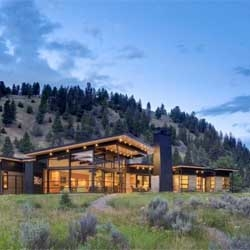 River Bank House in Big Sky, Montana by Balance Associates Architects.