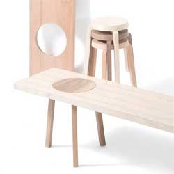 """Hockerbank, or """"stool-bench"""" by Johanna Dehio."""