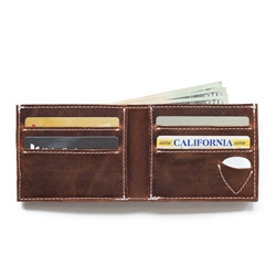 Arizona Arena Bifold Picker's Wallet a bifold version of hte wallet with a compartment just for your guitar pick.
