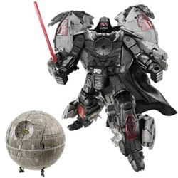 Possibly the coolest (nerdiest) toy ever created by humankind! A Darth Vader - Deathstar transformer!