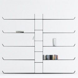 Aliante Bookshelf is designed by Italy-based designer, Davide Anzalone. The bookshelf is made completely of carbon fiber.