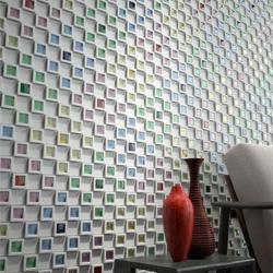 'Dent Cube' concrete tiles by Teruo Yasuda.