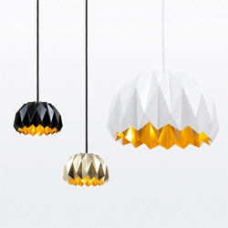 'Ori' hanging light inspirated by origami art by Lukas Dahlén.